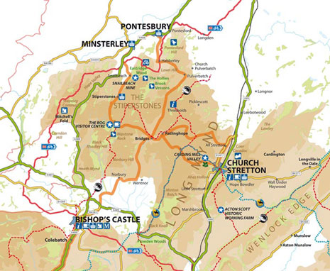 Long Mynd Map