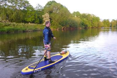 Paddleboarding in the Shropshire Hills