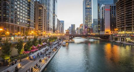 Image result for chicago riverwalk in autumn