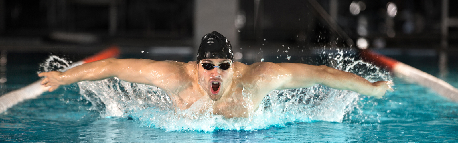 Knee and shoulder patient swimming