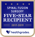 Healthgrades Spinal Fusion Surgery Five-Star Recipient - 2017-2019