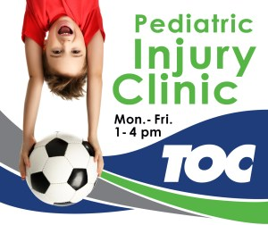 Child with soccer ball | Pediatric Injury Clinic | TOC | Huntsville, AL