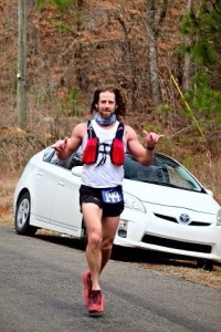 Dr. DeOrio running in the Mt. Cheaha 50k