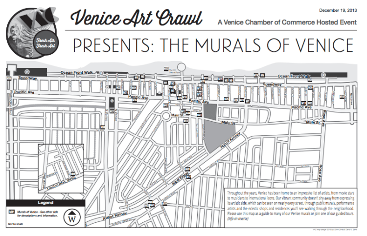 Venice Art Crawl Murals map