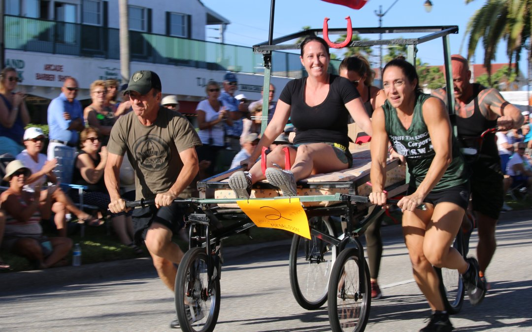 Bed Races are Back – Sun Fiesta 2018 by Marty Damon
