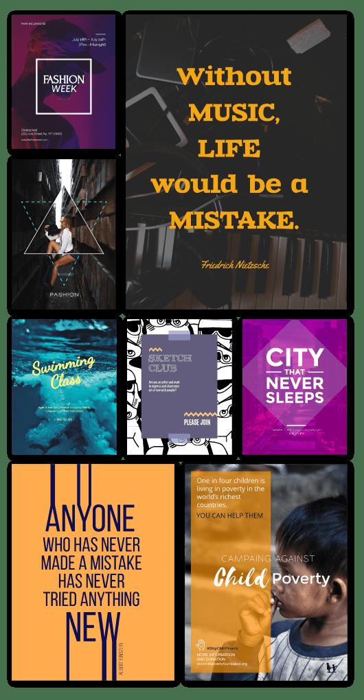 free online poster maker design