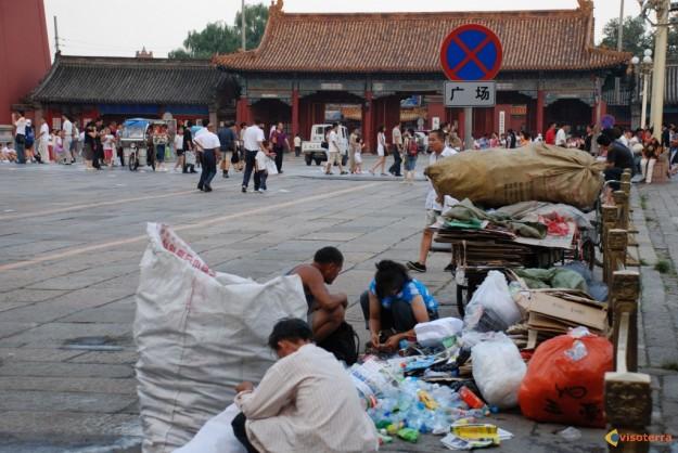 Bouteilles en plastique à Beijing