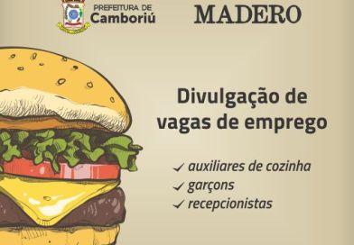 Programa Jovem Aprendiz de Camboriú divulga vagas de emprego da rede Madero