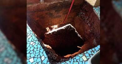 Varanda desaba e casal fica duas horas soterrado em poço de cinco metros