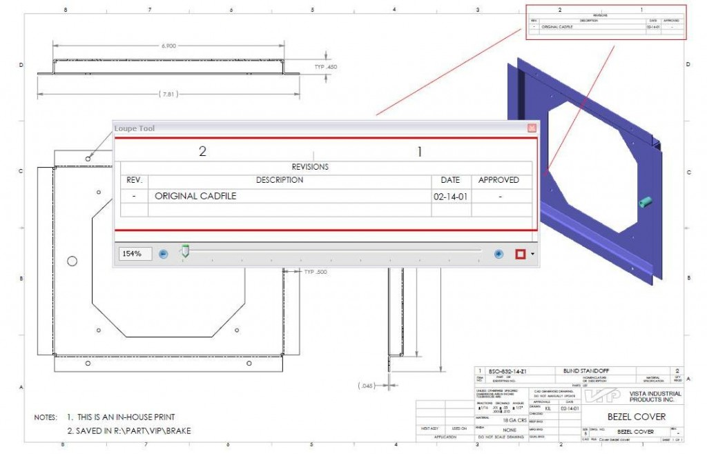 How To Read A Manufacturing Drawing Vista Industrial Products Inc