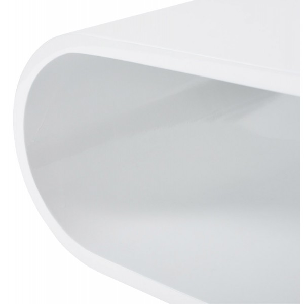 table basse ovale blanche laquee super design diana