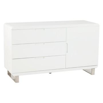 meuble de rangement laque blanc tempo vistadeco