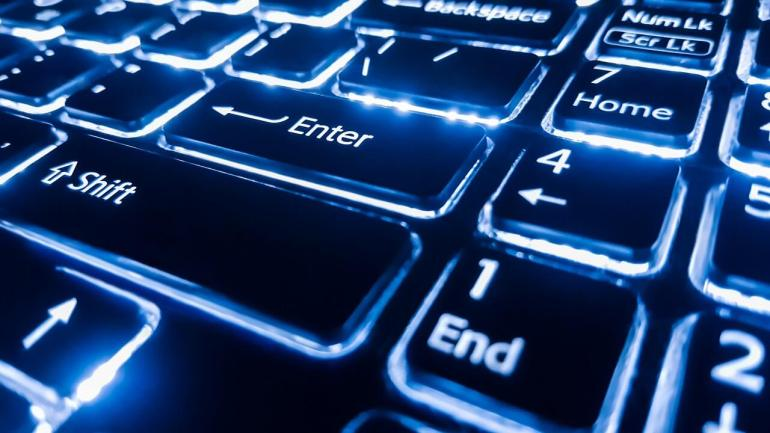 neon-keyboard-with-enter-button-focus-on-the-1280