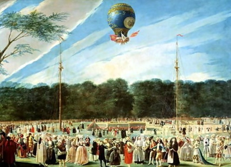 The-Ascent-Of-The-Montgolfier-Balloon-At-Aranjuez,-C.1764