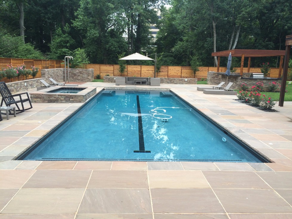 Pool Deck Design & Installation in Annapolis, MD ... on Pool Deck Patio Ideas id=98845