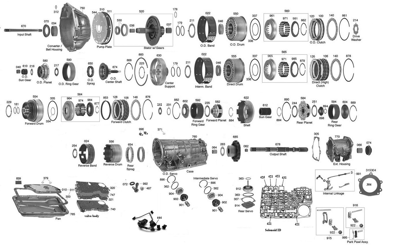 4r55 Transmission Parts Diagram Vista Transmission Parts