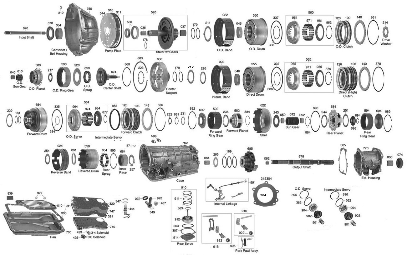 Ford Manual Transmission Parts Diagrams