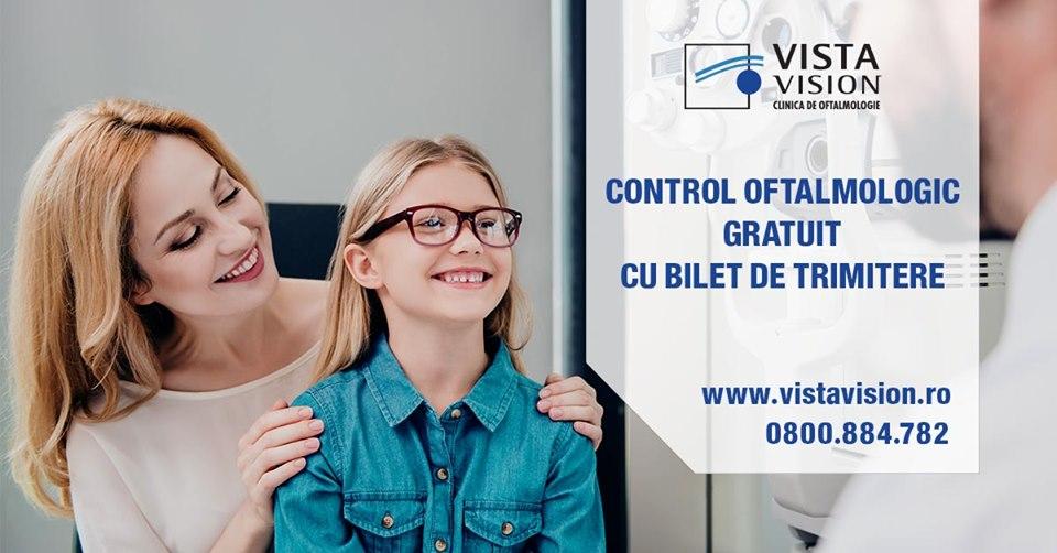 Control oftalmologic gratuit cu bilet de trimitere