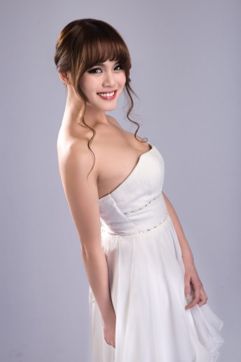 Model Isabella Wearing a Beautiful Wedding Dress