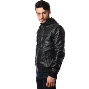 Black Leather Jacket Man