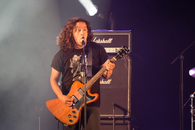 Igor Sidorenko avec Stoned Jesus au Hellfest le 17 juin 2016
