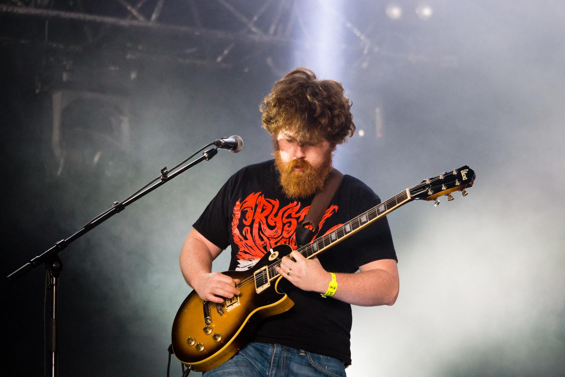 Fañch de Stonebirds au Hellfest le 19 juin 2016.