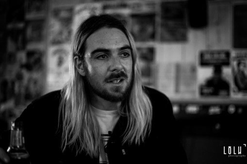 Tom Hudson from PABH interviewed before their show at La Mécanique Ondulatoire (Paris) on 17/04/2017.