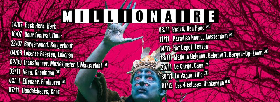 millionaire tour dates