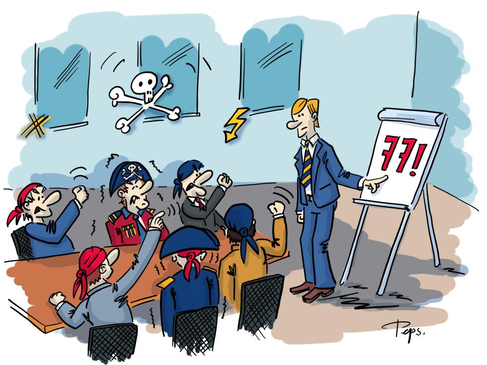 Illustration Aufstand im Vorstand