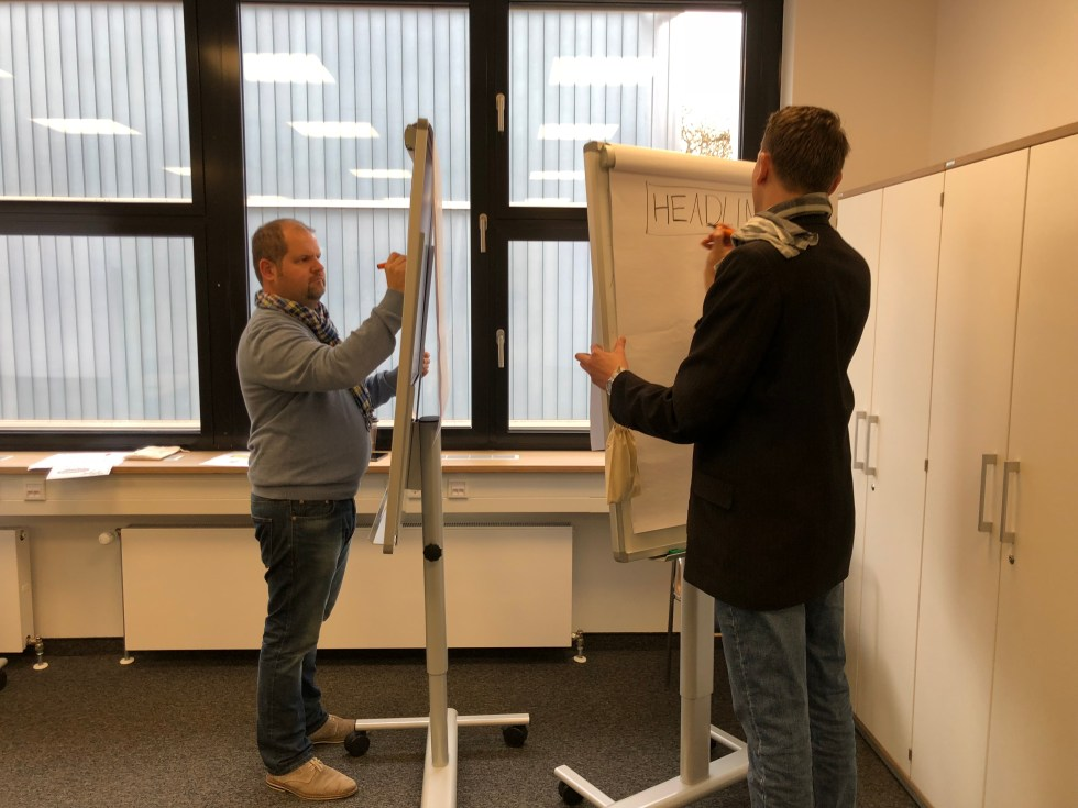 Mini-Workshop an der IHK: Visualisieren am Flipchart