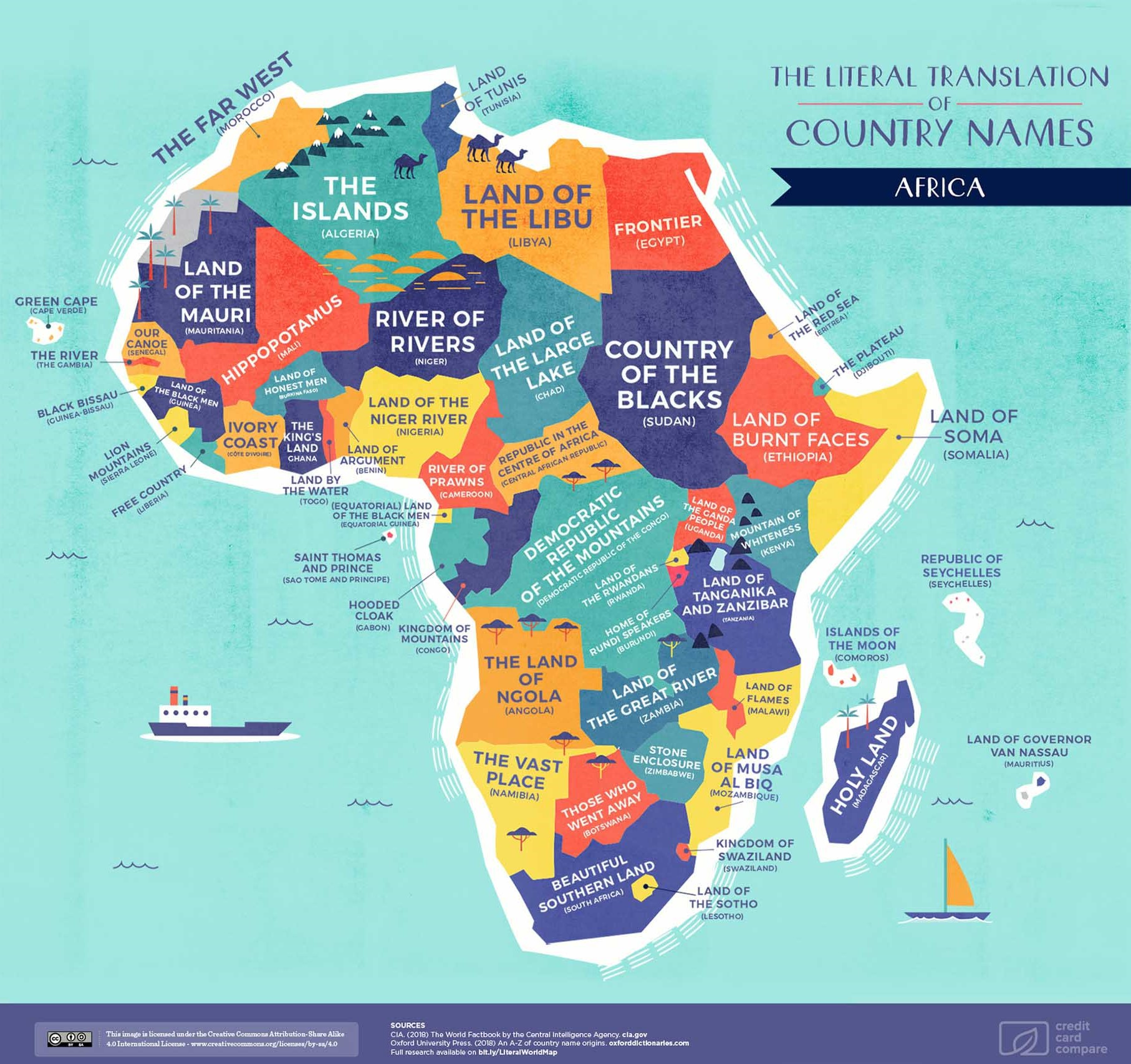 Africa Map Names
