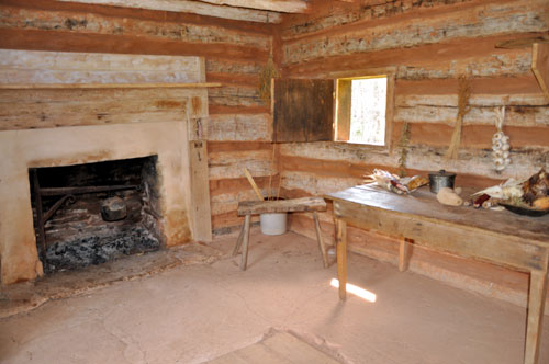 Restored Kitchen House Like That Inhabited by Booker T. Washington's Family