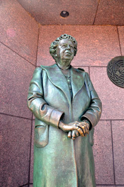 Eleanor Roosevelt Statue, Roosevelt Memorial, Washington, D.C.