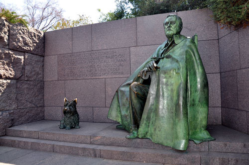 Franklin Delano Roosevelt Statue, Roosevelt Memorial, Washington, D.C.
