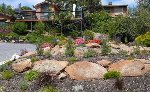 Low Maintenance Front Garden Landscaping Panorama