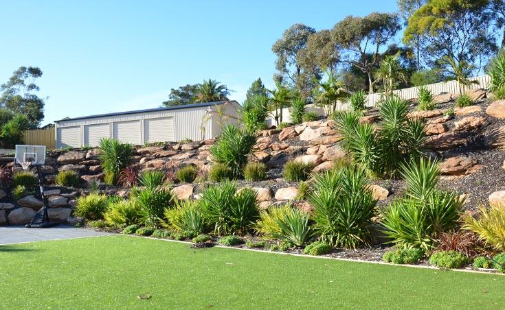 Garden Landscaping Ideas For Sloping Gardens Adelaide. on Garden Ideas For Sloping Gardens id=46648