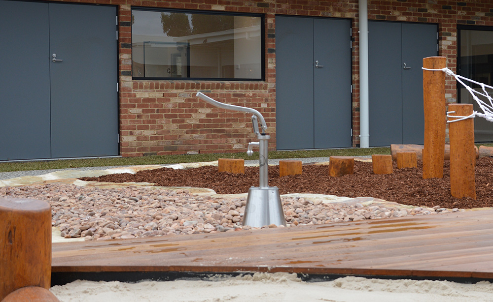 Child Care Centre Landscaping | Water Pump
