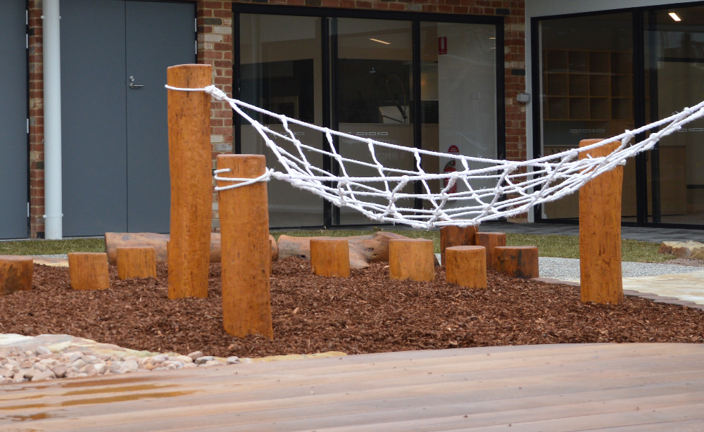 Child Care Centre Landscaping | Rope Climb Net