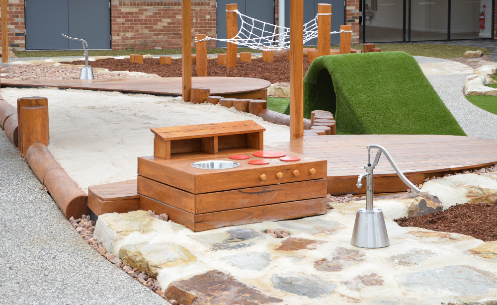 Child Care Centre Landscaping | Mud Kitchen