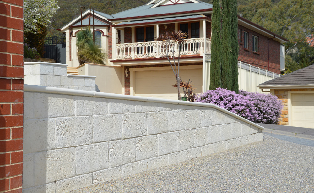 Hewnstone Retaining Wall Blocks | Retaining Walls Adelaide