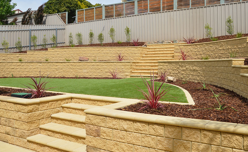 Garden Retaining Wall Feature