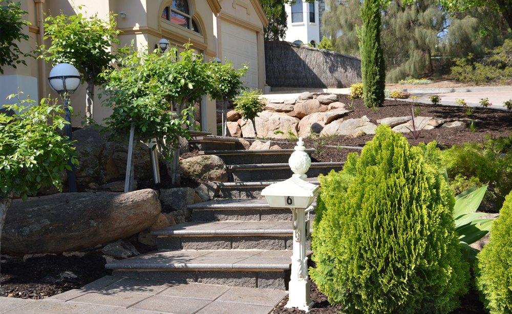 Garden Landscapers Adelaide   Concrete Block Steps