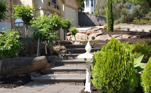 Garden Landscapers Adelaide | Concrete Block Steps