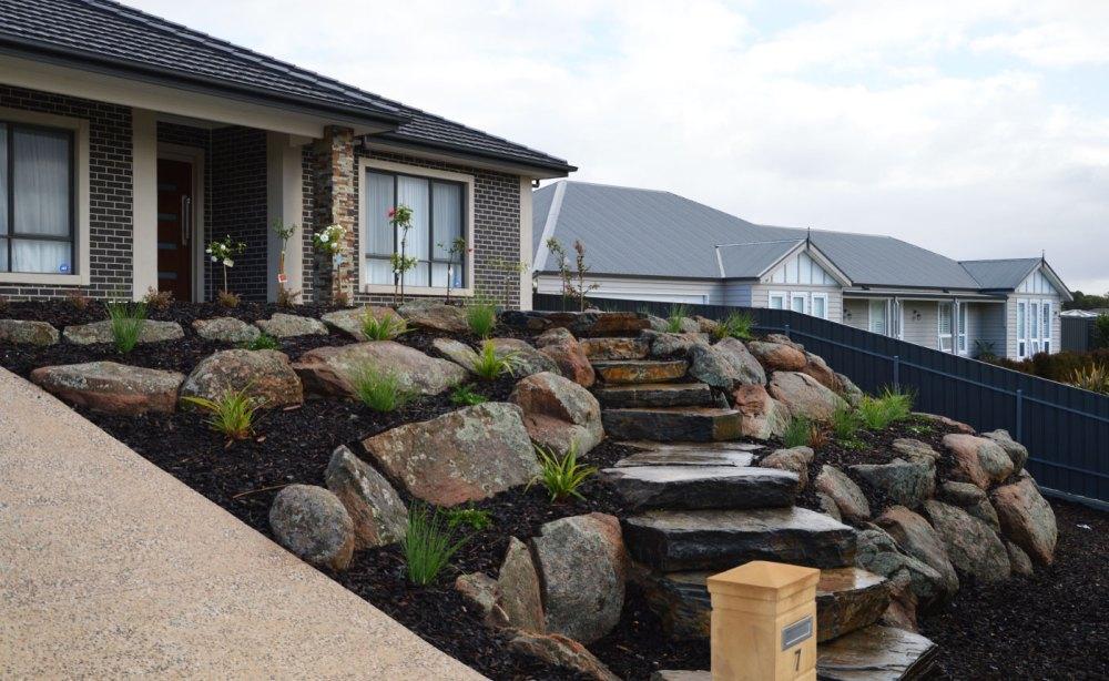 Moss Rock Retaining Walls | Sloping Gardens | Landscaping