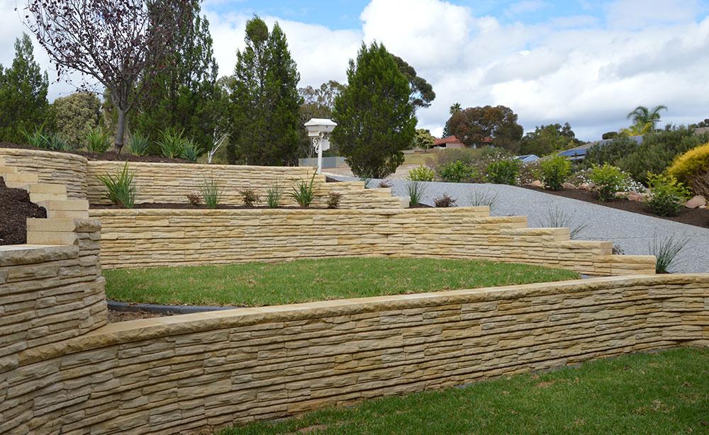 Natural Impressions Flagstone Concrete Block Retaining Walls