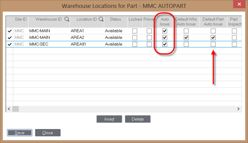 Infor VISUAL Warehouse Location