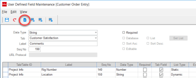 Adding a Custom UDF in VISUAL ERP