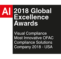 2018 AI Global Excellence Awards Most Innovative OFAC Solutions Company