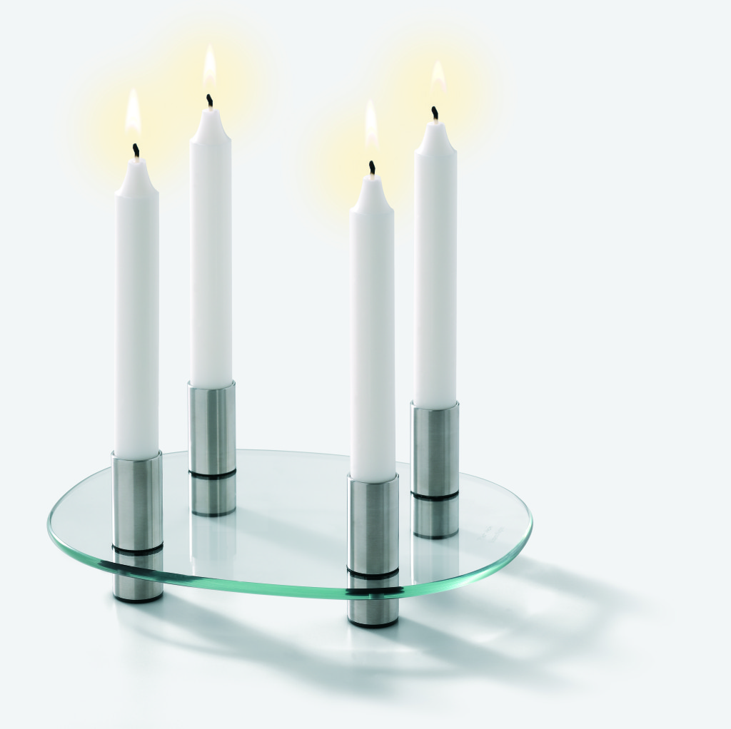 Piet Hein super-egg candle holder
