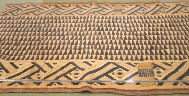 Raffia ceremonial overskirt, Bushong people, 20th cent.